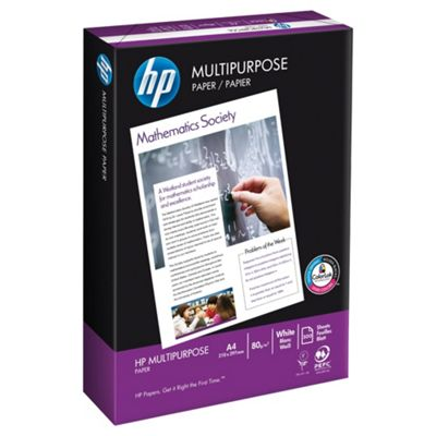 HP Multi-Purpose White A4 80Gsm Paper, 500 Sheets