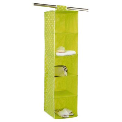 Pois Ordinatore 5 Shelf Hanging Unit Green