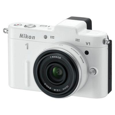 Nikon V1 Digital Camera, White, 10.1MP, 3.0 inch LCD Screen