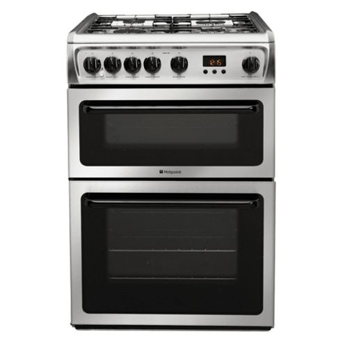 Hotpoint Hag60X Stainless Steel Double Oven Gas Cooker