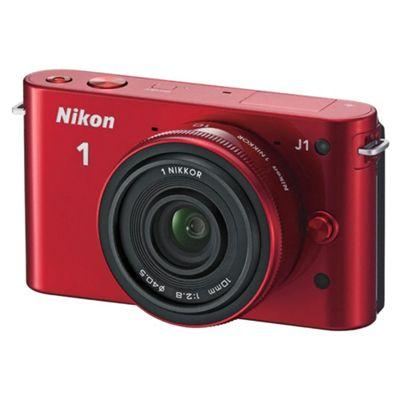 Nikon 1 J1 VVA155K002 Compact System Camera Red