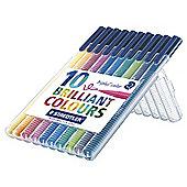 Staedtler Triplus Colour Fibre Tips 10 Pack
