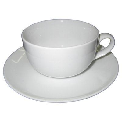 Super White Porcelain Cup & Saucer