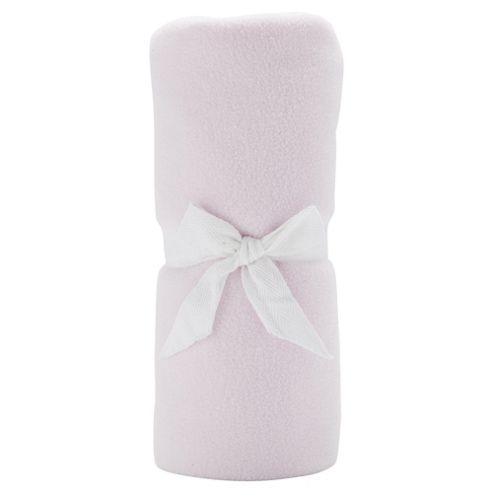 Tesco Loves Baby Fleece Blanket Moses/Crib, Pink
