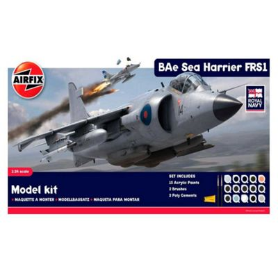 Hornby Airfix A50010 Royal Navy Bae Sea Harrier Frs1 1:24 Scale Aircraft Gift Set