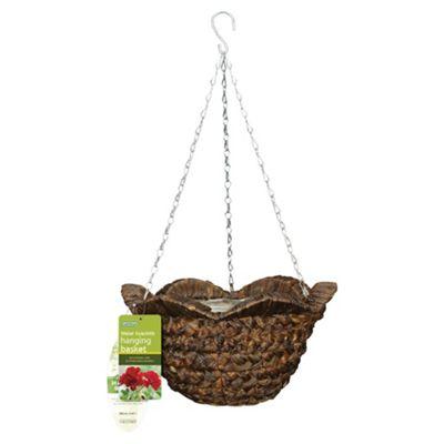 Water Hyacinth Hanging Basket With Wavy Rim