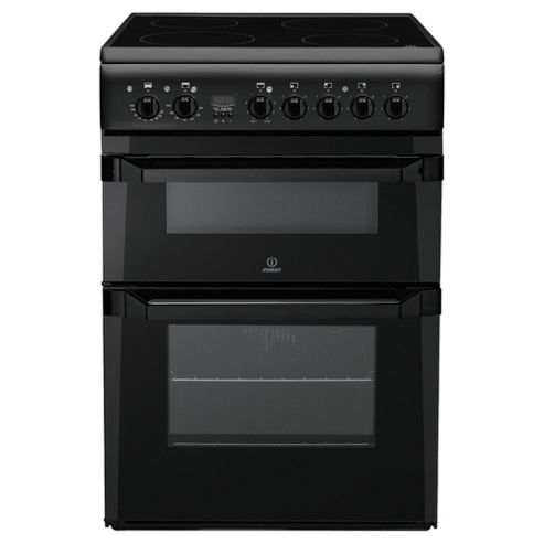 Indesit ID60C2A Anthracite Ceramic Double Oven Electric Cooker