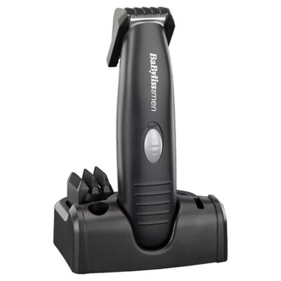 BaByliss 7107U Mens Cordless Electric Beard And Moustache Trimmer - Black