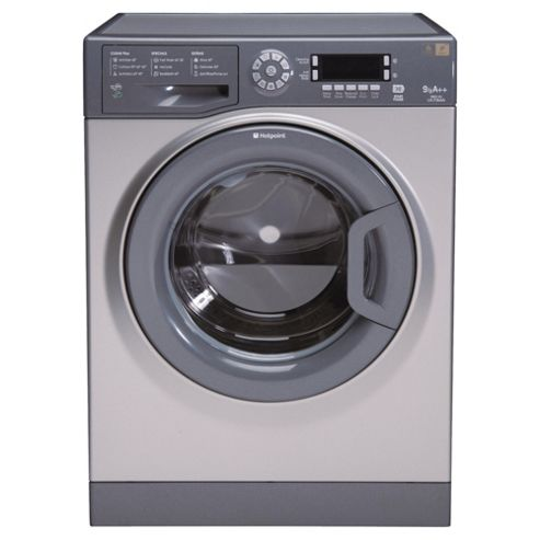 Hotpoint Ultima WMUD962G Washing Machine, 9Kg Wash Load, 1600 RPM Spin, A++ Energy Rating, Graphite