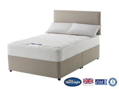 Silentnight Foxton King Size Divan Bed, Non-Storage, 1000 Pocket Luxury