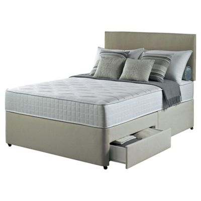 Silentnight Foxton King Size Divan Bed with 4 Drawers, 1000 Pocket Luxury