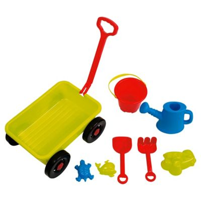 Wagon with Sand and Water Toys
