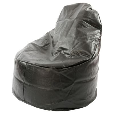 Kaikoo Ezee Faux Leather Bean Bag Chair, Black