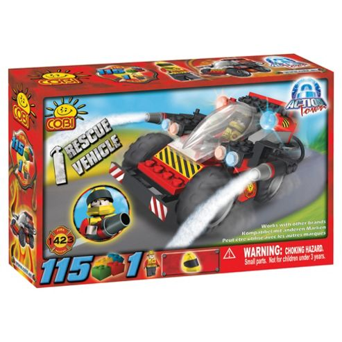 Cobi Action Town 115 Piece Fire Rescue Vehicle