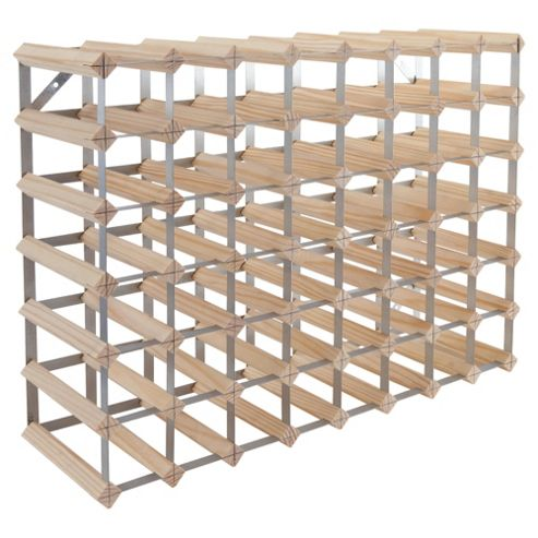 Ready To Assemble 56 Bottle Wine rack, Natural