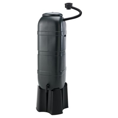 Space Saving Water Butt with Connector and Stand, 100L