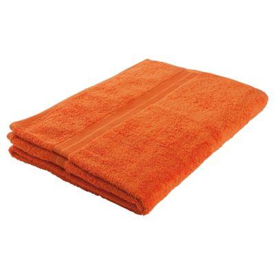 Tesco Bath Towel Orange