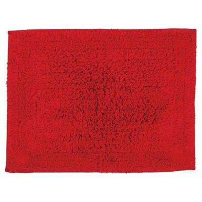 Tesco Bath Mat Red