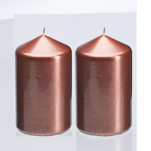 Tesco Pillar Candle Bronze