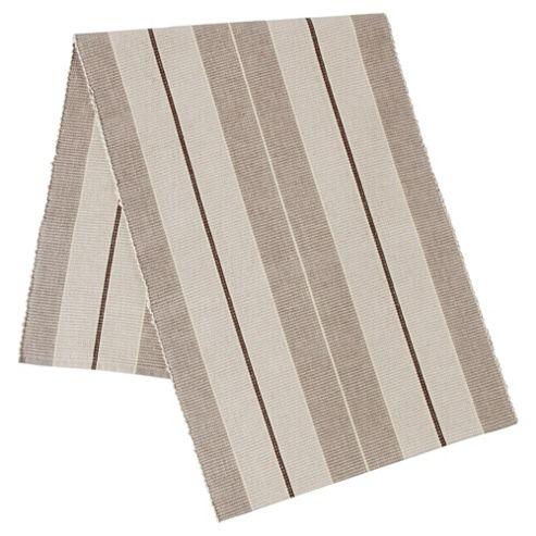 Tesco Ribbed Taupe Stripe Runner, Large