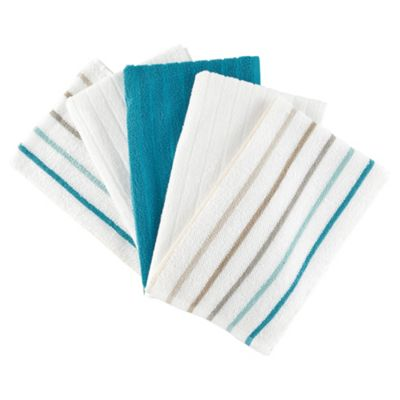 Tesco Pure Set of 5 Terry Tea Towels