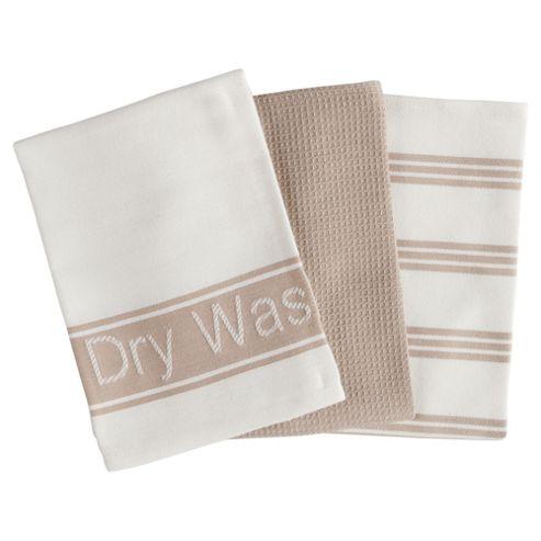 Tesco Pure Tea Towels 3 Pack