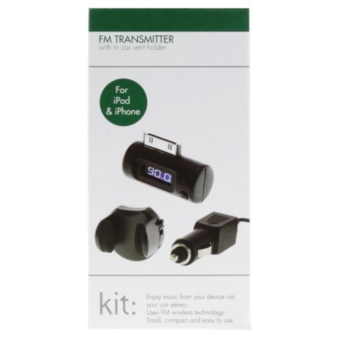 Kit High Quality Transmitter And In-Car Holder for iPhone/iPod/iPad