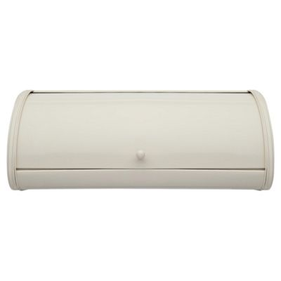 Tesco Roll Top Bread Bin, Cream