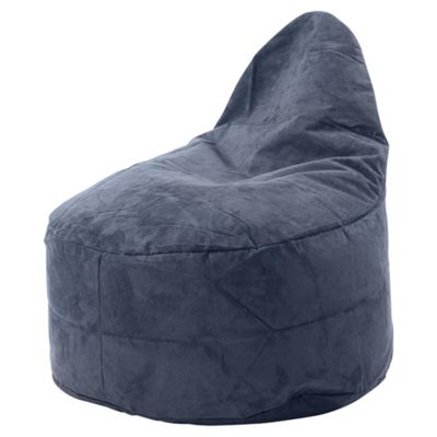 Kaikoo Ezee Faux Suede Bean Bag Chair, Charcoal