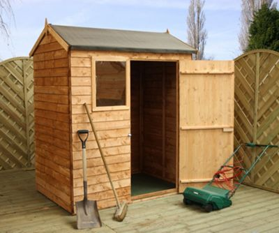 Mercia Reverse Overlap Apex Wooden Shed, 6x4ft