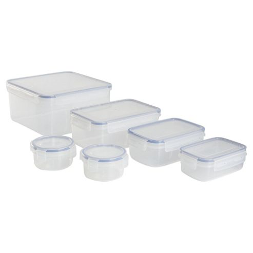 Set of 6 Klipfresh Food Storage Containers