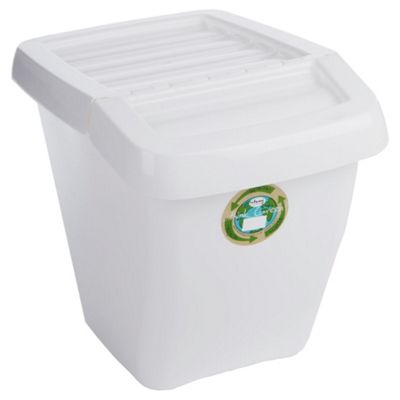 Wham 50L recycling box, white