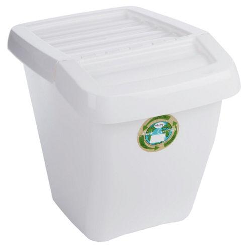 Wham 50L recycling box, white