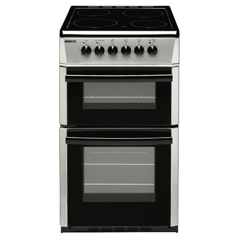 Beko DC5422AS 50cm Double Cavity Ceramic Electric Cooker Silver