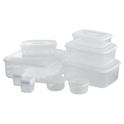 Tesco Basics Set of 9 Food Storage Containers