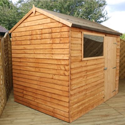 Mercia Reverse Overlap Apex Wooden Shed, 8x6ft