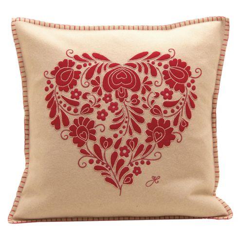 Jan Constantine Romany Heart Cushion