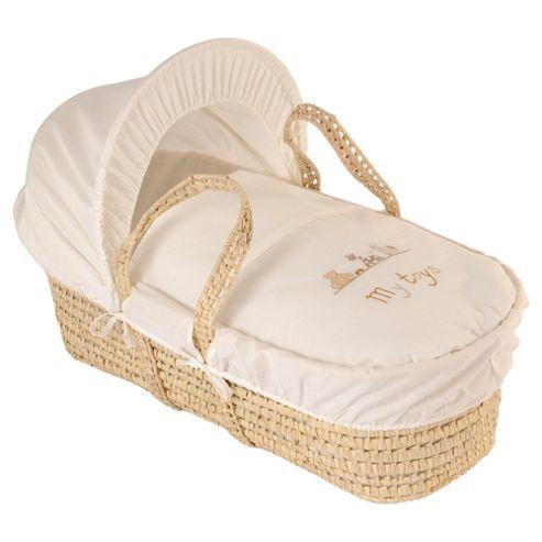 Clair de lune My Toys Moses Basket - Cream