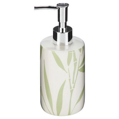 F+F Home Bamboo Leaf Ceramic Soap Dispenser