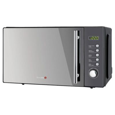 Breville Vmw181 20l 100w Easitronic Grill Microwave Oven With Widescreen Black Gl Body
