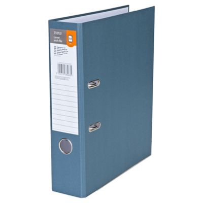 Tesco A4 Lever Arch File, Grey, 5 pack