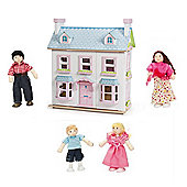 Le Toy Van Mayberry Manor and My Family of 4 Dolls