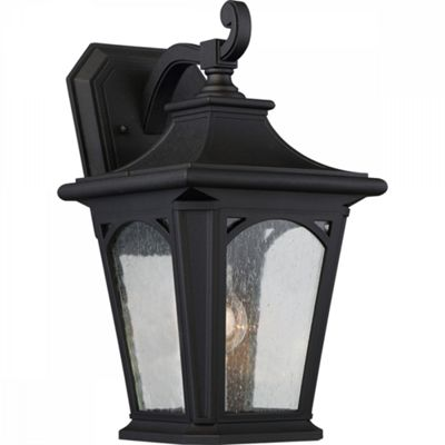 Mystic Black Medium Wall Lantern - 1 x 100W E27