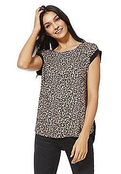 F&F Leopard Print Woven Front Top - Multi