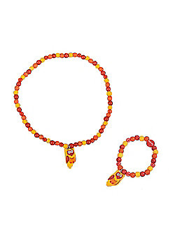 Tatiri Owl Bracelet and Necklace (Yellow Owl)