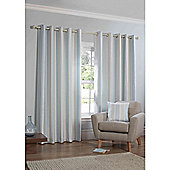 Falcao Lined Eyelet Curtains - Duck egg
