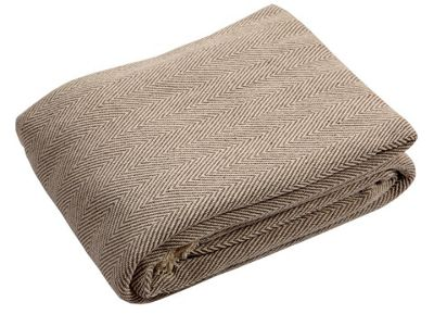 EHC Two Tone Herringbone Cotton Throw
