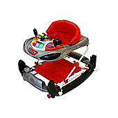 Bebe Style Deluxe Car Themed Baby Walker & Rocker- Black
