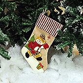 Kingfisher HSTOCK Hessian Stocking Snowman