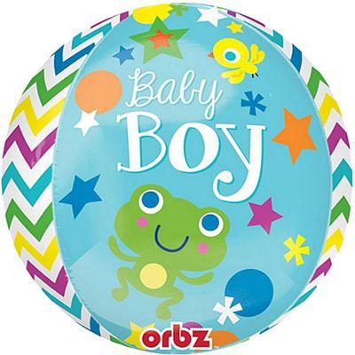 Sweet Baby Boy Orbz Balloon - 25 inch Foil